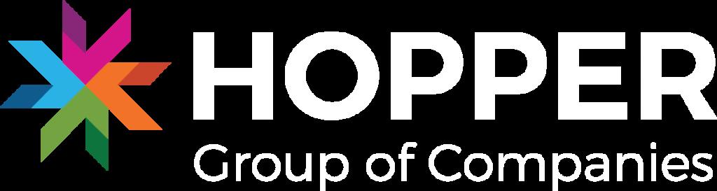 Hopper Logo White